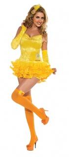 Tweety Kostüm Damen Looney Tunes Comics mit Strümpfe Damenkostüm Karneval KK