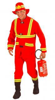Kostüm Feuerwehrmann Feuerwehr Uniform rot Herren Kostüm Karneval Fasching KK