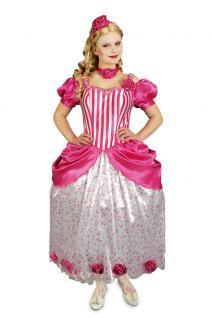 Prinzessin Kostüm Damen rosa lang Prinzessin Kleid Viktorianische Prinzessin KK