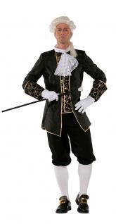 Rokoko Herren-Kostüm Barock Kostüm Herren Renaissance Kostüm Herren schwarz KK