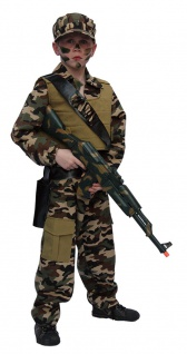 Soldat Kostüm Soldatenkostüm Kinder Junge Camouflage Militär Armee Karneval KK