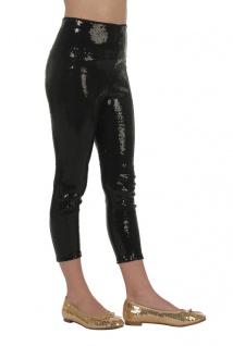 Leggings Pailletten schwarz Mädchen-Kostüm für Karneval Fasching KK