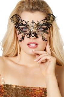 Fledermaus Maske schwarz gold Halloween-Maske Metall KK