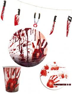 Blutiges Halloween Party Set Tisch Deko Raum Dekoration KK