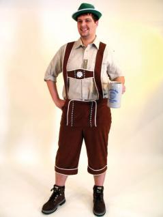 Oktoberfest Lederhose Herren braun Kostüm Bayern Trachten Herrenkostüm KK