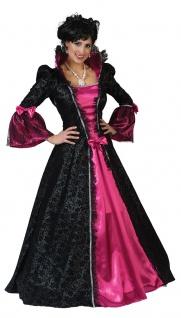 Viktorianisches Kleid Damen Barock Renaissance Damen-Kostüm pink schwarz lang KK