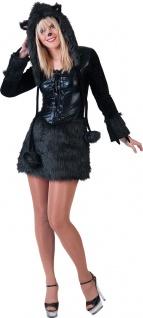 Panther Kostüm Damen schwarzer Panter Raubkatze Karneval Fasching KK