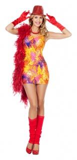 Disco Queen Kostüm Damen 70er 80er Jahre Kleid pink Popstar Karneval Fasching KK