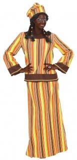 Afrikanisches Damenkostüm Afrikaner Kostüm Damen Afrika Kleid Zulu Karneval KK