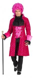 Barock Kostüm Herren Renaissance Mantel Rokoko Herren-Kostüm pink schwarz KK