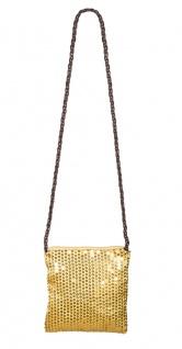 Pailletten-Tasche gold Charleston Tasche glitzer Tasche 20er Jahre Karneval KK