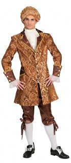 Barock Kostüm Herren Renaissance Rokoko Herrenkostüm gold braun Karneval KK