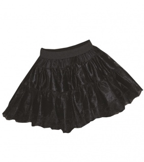 Petticoat Damen Tüllrock Petticoat als Rock Tütü schwarz Volume Damen-Kostüm KK