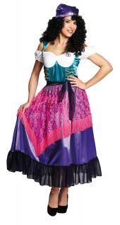 Zigeunerin Kostüm Damen Gypsy Marktfrau Karneval Fasching KK