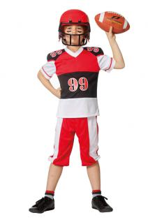 Karneval Klamotten Kostüm American Footballer Junge Karneval USA Jungenkostüm