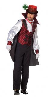 Vampir Graf Dracula Kostüm Herren Umhang Cape Horror Halloweenkostüm Fasching KK
