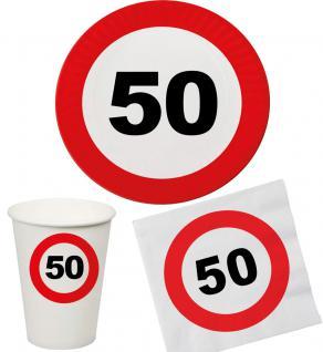 Party Set 32 Teile Geburtstag 50 Jahre Verkehrsschild
