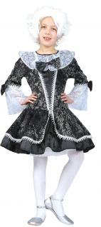 Rokoko Kostüm Kleid Kinder Mädchen grau Karneval Barock Kinderkostüm KK