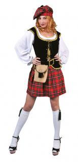 Karneval Klamotten Kostüm Schottin Loch Ness Dame Kostüm Karneval Schottland