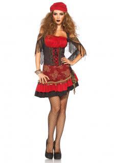 Karneval Klamotten Kostüm Zigeunerin Dame Luxus Karneval Marktfrau Damenkostüm