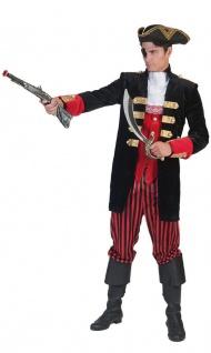 Piratenkostüm Herren Pirat-Jacke -Weste -Hose Herrenkostüm Seeräuber Karneval KK