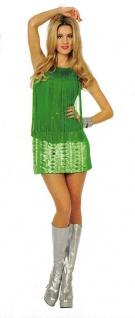 Charleston Kleid 20er 30er Jahre Damen Kostüm Flapper mit Fransen grün Fasching