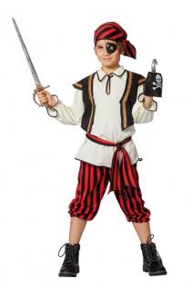 Piraten Kostüm Kinder Seeräuber Pirat Kapitän Jungenkostüm Fasching Karneval KK