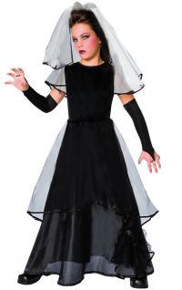 Karneval Klamotten Kostüm Gothic Braut Mädchen Halloween Mädchenkostüm