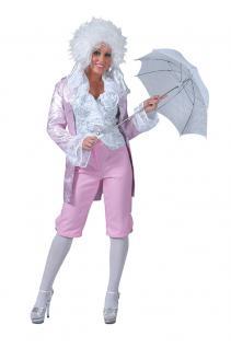 Renaissance Kostüm Rokoko Damen-Kostüm mit Hose rosa silber Karneval KK