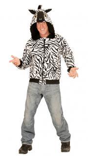 Zebra Kostüm Herren Zebra Jacke Kapuze Ohren Tier-Kostüm Karneval Herren-Kostüm