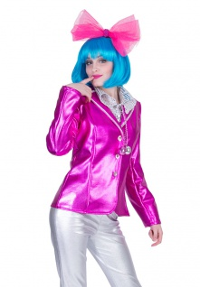 Disco Jacke Karneval Damen Kostüm pink Show Party Pop Fasching Karneval KK