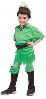 Peter Pan Kostüm Jungen Bogenschütze Robin Hood Stulpen Kinder-Kostüm Karneval K