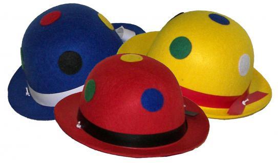 Karneval Klamotten Kostüm Melone Clown mit Punkte Zubehör Zirkus Karneval