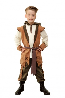 Robin Hood Kostüm Kinder Räuber Karneval Fasching Mittelalter Jungenkostüm KK