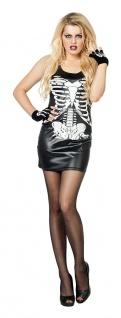Skelett-Kostüm Damen Skull Horror sexy Skelettkleid Halloween Damenkostüm KK
