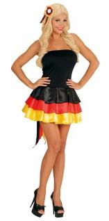 Deutschland Kleid Deutschland EM WM Fußball 2021 Kostüm Karneval Fanartikel
