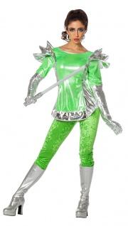 Space Kostüm Damen Alien Weltraum Space Girl Damen-Kostüm Fasching Karneval KK