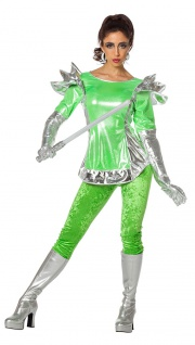 Space Kostum Damen Alien Weltraum Space Girl Damen Kostum Fasching