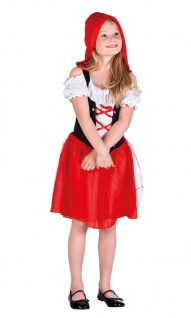 Rotkäppchen Kinder Kind Märchen Kleid Umhang Mädchen-Kostüm Karneval Fasching KK