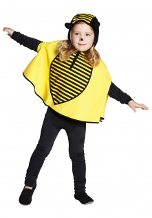 Biene Kostüm Kinder Bienchen Umhang Cape Kinder-Kostüm Fasching Karneval KK