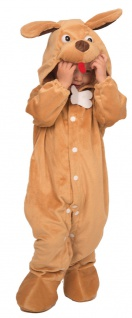 Kinderkostüm als Hund Kostüm Hundchen Plüsch Overall Baby Fasching Karneval KK