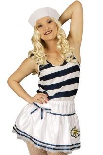 Matrosin Kostüm Matrosen Marine Damenkostüm Petticoat-Rock Karneval Fasching KK