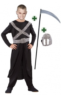 Sensenmann Kostüm Kinder Tod MIT Sense Halloween Kinderkostüm Fasching Karneval