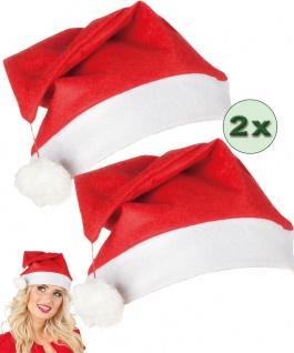 Weihnachts-Mütze Weihnachtsmann Nikolausmütze Damen Herren Weihnachten 2 St. KK