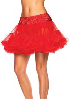 Petticoat Damen Tüllrock Unterrock Tütü rot Luxus Länge 36 cm Karneval KK
