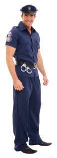 Karneval Klamotten Kostüm Polizist Herren blau Polizei Herrenkostüm Fasching