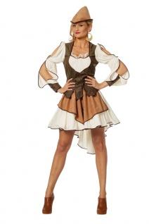 Robin Hood Kostüm Damen Räuberin Bogenschütze Mittelalter Damenkostüm KK