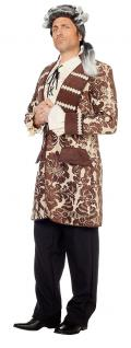 Barock Kostüm Herren Rokoko Mantel Renaissance braun Herrenkostüm Karneval KK