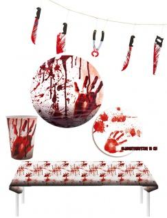 Blutiges Halloween Blut Party Set Tisch Deko Raum Dekoration KK