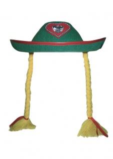 Seppl Hut Trachten Hut Bayern Hut Tiroler Hut Oktoberfest Hut grün Damen KK